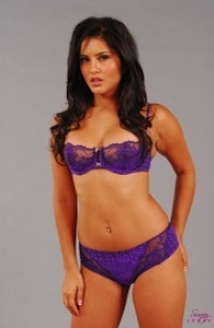 Purple Lingerie Tease Picture